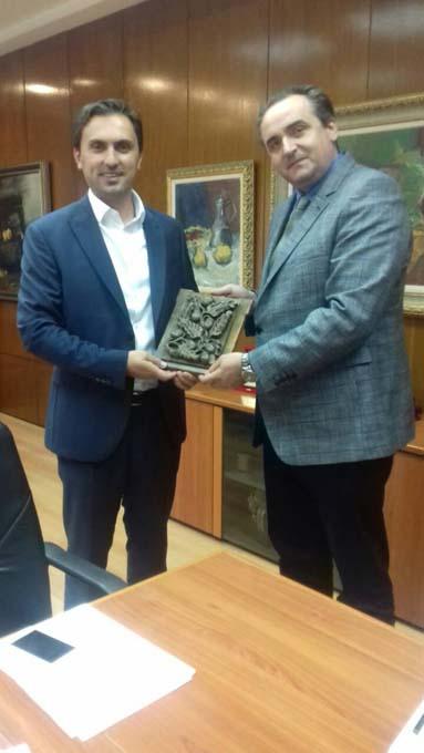 Работна средба во кабинетот на министерот за култура